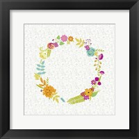 Girly Wreath I Framed Print