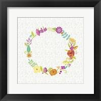 Girly Wreath II Framed Print