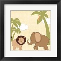 Framed Baby Jungle IV