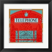 London Calling II Framed Print