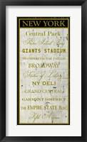 City Words II Framed Print