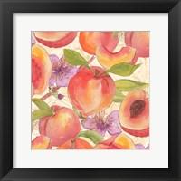 Peach Medley I Framed Print