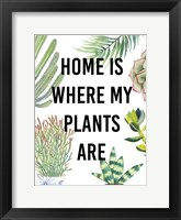 Plant Love VI Framed Print