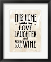 Framed Home with Wine