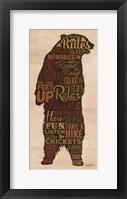 Cabin Rules Framed Print