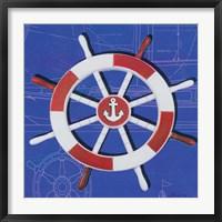Framed Captain's Wheel I