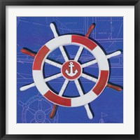 Framed Captain's Wheel I
