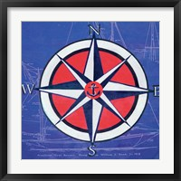 Nautical Compass I Framed Print