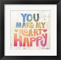 Framed You Make My Heart Happy