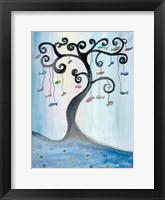 Framed Fishing Tree
