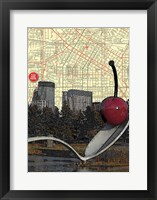 Framed Minneapolis Cherry Spoon