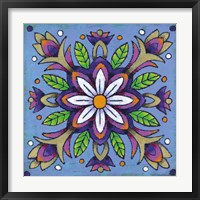 Mandala White Flower Framed Print