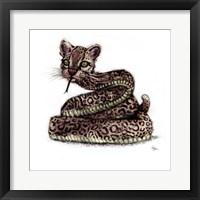 Ocelot Snake Framed Print