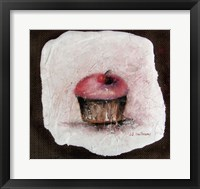 Cupcake with a Cherry on Top Framed Print