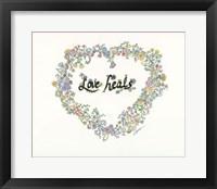Framed Love Heals Floral