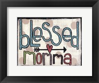 Framed Blessed Momma