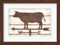 Framed Farmhouse Cow