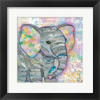 Framed Sweet Baby Elephant I