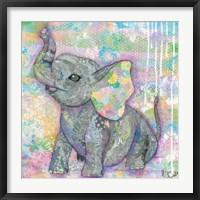 Framed Sweet Baby Elephant II
