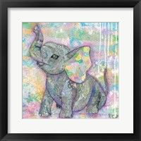 Framed Sweet Baby Elephant II
