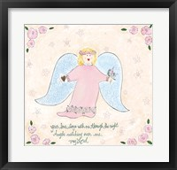 Angels Watching Over Me I Framed Print