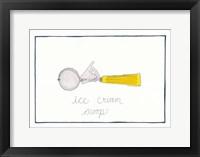Kitchen Ice Cream Scoop Framed Print