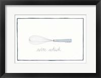 Kitchen Wire Whisk Framed Print