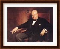 Framed Sir Winston Churchill