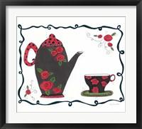 Framed Red Rose Tea set