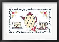 Framed Polka Dot & Diamonds Tea Set