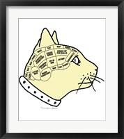 Feline Phrenology Framed Print