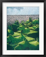 Topiary Dogs and Cats Framed Print