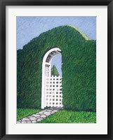 Topiary Gateway Framed Print