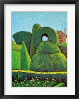 Topiary Shapes Framed Print