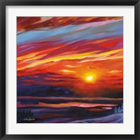 Framed Mountain Top Sunset