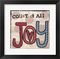 Framed Count It All Joy