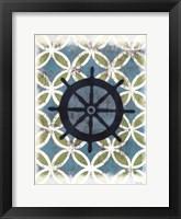 Coastal Patterns II Framed Print