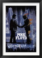 Framed Wish You Were Here Blk