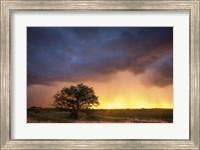Framed Stormy Sunset