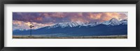 Framed Windmill Mountains Panorama