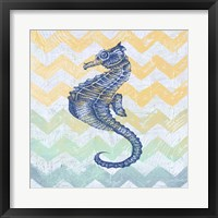 Framed Chevron Sea Horse