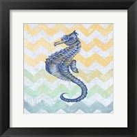 Chevron Sea Horse Framed Print
