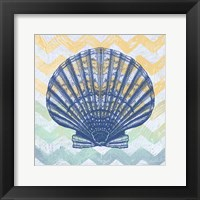 Chevron Shell Framed Print