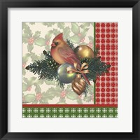 Framed Holly & Berries 4