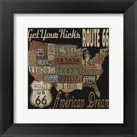 Framed Route 66 - American Dream Kicks