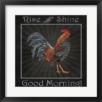 Good Morning Rooster I Framed Print