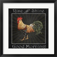 Framed Good Morning Rooster II