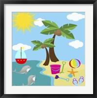 Beach Time I Framed Print