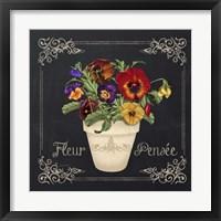 Framed Fleur Pensee
