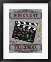 Movie Night I Framed Print